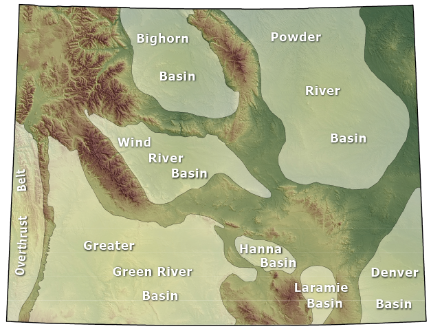 Wyoming's oil & gas basins