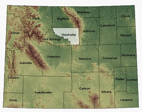 Washakie map