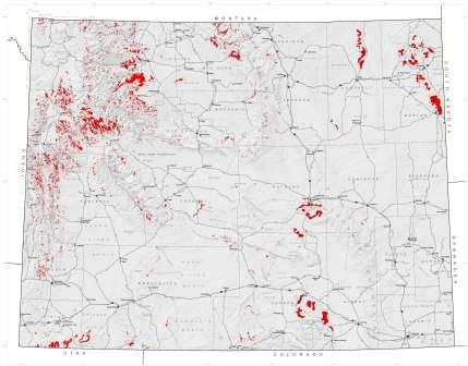 Generalized map of landslides in Wyoming