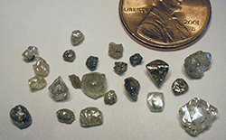 Diamonds from the State Line Kimberlite district.